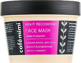 """Voňavky, Parfémy, kozmetika Nočná maska na tvár """"Regenerácia"""" - Cafe Mimi Night Recovering Face Mask"""