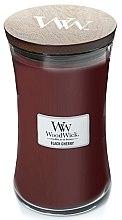 Voňavky, Parfémy, kozmetika Vonná sviečka v pohári - WoodWick Hourglass Candle Black Cherry