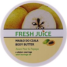 """Voňavky, Parfémy, kozmetika Krémové maslo na telo """"Ázijská hruška a papája"""" - Fresh Juice Asian Pear & Papaya"""