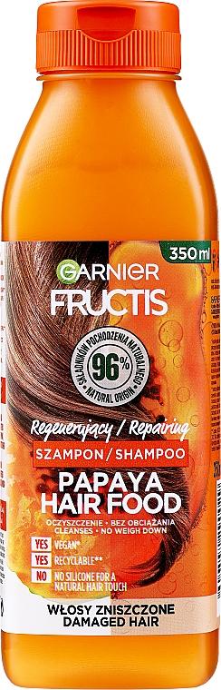 "Šampón na regeneráciu poškodených vlasov ""Papája"" - Garnier Fructis Repairing Papaya Hair Food Shampoo"