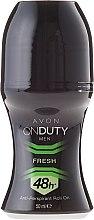 Voňavky, Parfémy, kozmetika Antiperspirantový dezodorant - Avon On Duty Men Fresh 48H Anti-persrirant Roll-On