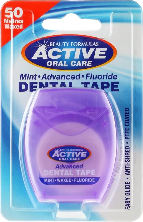 Medzizubná niť superthin s mätou a fluórom - Beauty Formulas Active Oral Care Advanced Mint Waxed Fluor 50 m
