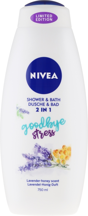 "Gél-pena do kupeľa ""Levanduľa a med"" - Nivea Goodbye Stress Body Wash Limited Edition"