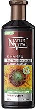 Voňavky, Parfémy, kozmetika Šampón na zachovanie farby farbených vlasov - Natur Vital Coloursafe Henna Colour Shampoo Chestnut Hair
