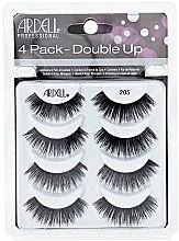 Voňavky, Parfémy, kozmetika Sada falošných rias - Ardell Double Up 4 Pack 205 Lashes