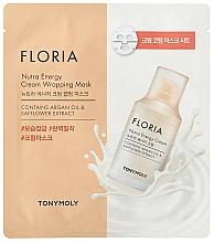 Voňavky, Parfémy, kozmetika Energizujúca maska - Tony Moly Floria Nutra Energy Cream Wrapping Mask