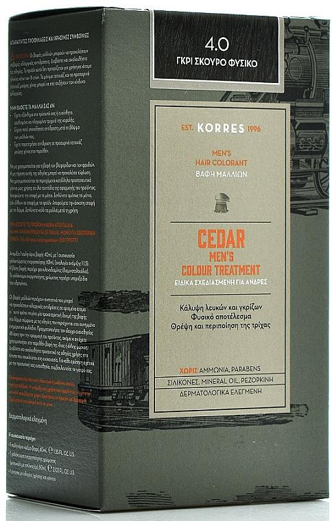 Farba na vlasy - Korres Cedar Men's Colour Treatment Hair Colorant — Obrázky N1