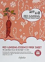 Voňavky, Parfémy, kozmetika Textilná maska s červeným ženšenom - Esfolio Pure Skin Red Ginseng Essence Mask Sheet