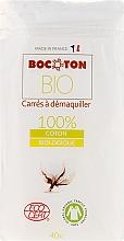 Voňavky, Parfémy, kozmetika Vatové tampóny štvorcové, 75x75 mm, 40 ks - Bocoton