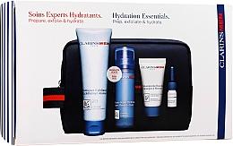 Voňavky, Parfémy, kozmetika Sada - Clarins Men Hydration Christmas (exf/125ml + balm/50ml + sh/gel/30ml + sh/oil/3ml)
