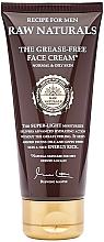 Voňavky, Parfémy, kozmetika Krém na tvár - Recipe For Men RAW Naturals The Grease-Free Face Cream