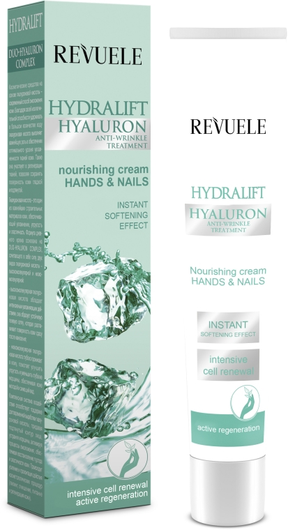 Krém na ruky a nechty - Revuele Hydralift Hyaluron Hands And Nails Nourishing Cream