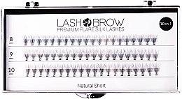 Voňavky, Parfémy, kozmetika Falošné riasy - Lash Brown Premium Flare Silk Lashes Natural Short