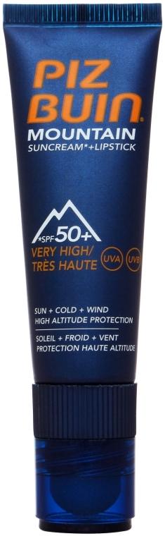 Opaľovací krém- rúž na pery - Piz Buin Mountain Suncream + Lipstick SPF50 — Obrázky N1