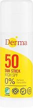 Voňavky, Parfémy, kozmetika Stick opaľovací krém - Derma Sun Sun Stick High SPF50