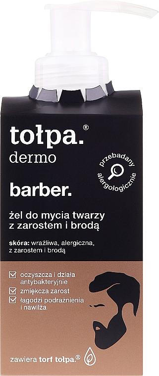 Gél na tvár a bradu - Tolpa Dermo Man Facial and Beard Gel Wash