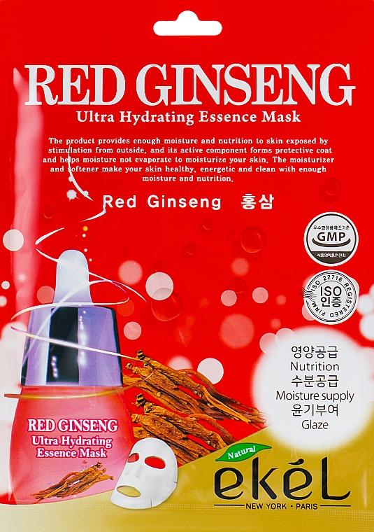 Textilná maska s extraktom z červeného ženšenu - Ekel Red Ging Seng Ultra Hydrating Essence Mask