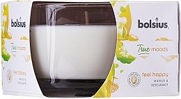 """Vonná sviečka v pohári """"Mango a Bergamot"""", 63/90 mm - Bolsius True Moods Candle — Obrázky N1"""