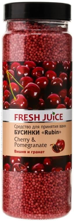 Kúpeľové perličky - Fresh Juice Bath Bijou Rubin Cherry and Pomergranate