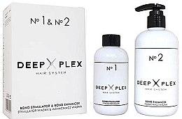 Voňavky, Parfémy, kozmetika Systém na ochranu a regeneráciu vlasov - Stapiz Deep Plex System No.1 & No.2 Set (hair/emulsion/150ml+hair/emulsion/290ml)