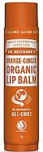 "Voňavky, Parfémy, kozmetika Balzam na pery ""Orange and Ginger"" - Dr. Bronner's Orange & Ginger Lip Balm"