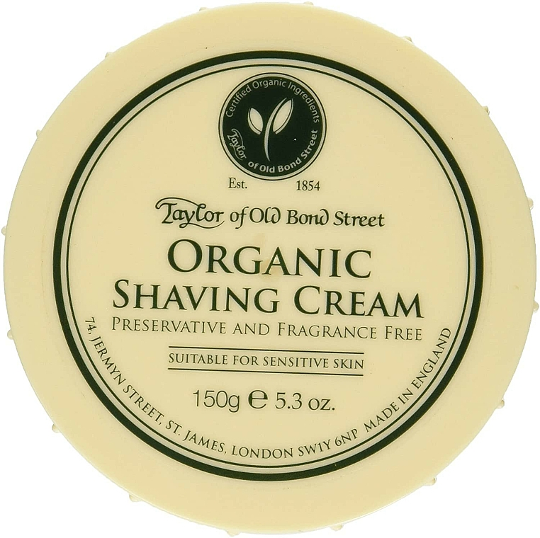 Krém na holenie - Taylor of Old Bond Street Organic Shaving Cream — Obrázky N1