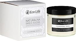 """Voňavky, Parfémy, kozmetika Vonná sviečka """"Červená ruža"""" - Eco Life Candles"""