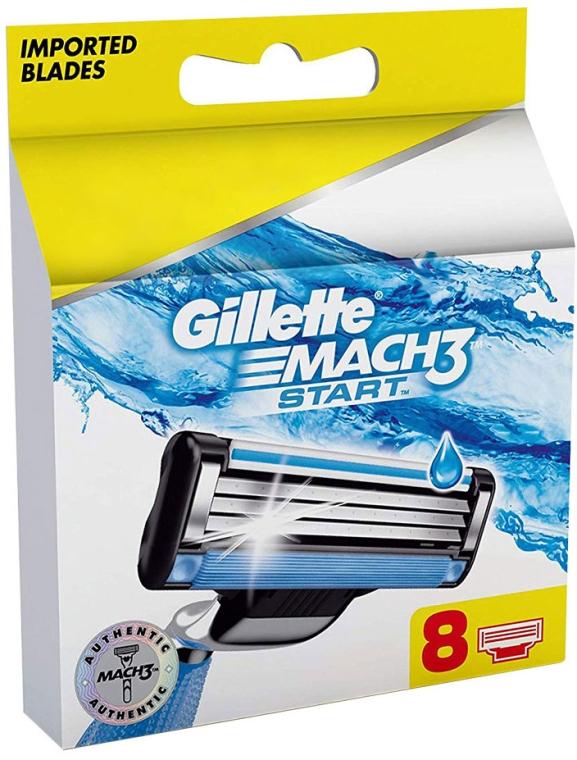 Náhradné holiace kazety, 8ks - Gillette Mach3 Start