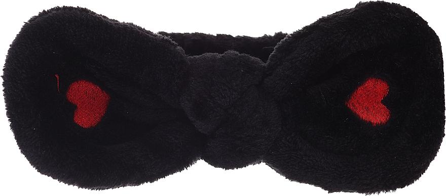 Kozmetická čelenka do vlasov, čierna - Lash Brow Cosmetic SPA Band