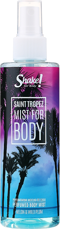Shake for Body Perfumed Body Mist Saint Tropez Melon & Wild Plum - Parfumovaná hmla na telo