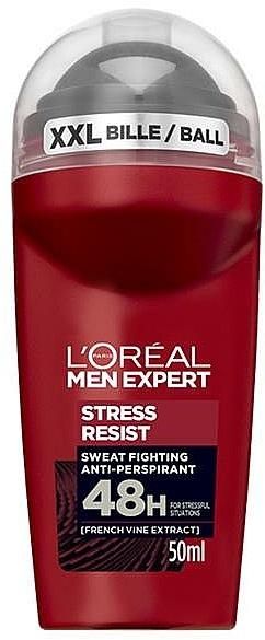 Guľvôčkový dezodorant - L'Oreal Paris Men Expert Stress Resist 48H Anti-Perspirant Deo Roll-On