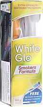 Voňavky, Parfémy, kozmetika Sada s modrou kefkou - White Glo Smokers Formula (toothpaste/100ml + toothbrush + toothpicks)