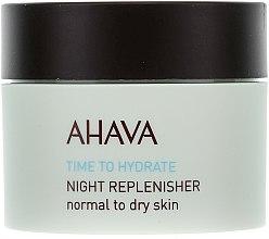 Voňavky, Parfémy, kozmetika Výživný nočný krém - Ahava Time To Hydrate Night Replenisher Normal to Dry Skin