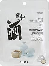 Voňavky, Parfémy, kozmetika Textilná maska na tvár so saké - Mitomo Sake Essence Mask