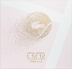 Voňavky, Parfémy, kozmetika Lacoste Eau de Lacoste L.12.12 Pour Elle Sparkling - Sada (edt/90ml + sh/gel/150ml)