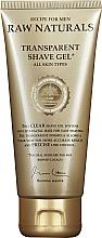Voňavky, Parfémy, kozmetika Transparentný gél na holenie - Recipe For Men RAW Naturals Transparent Shave Gel