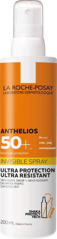 Ultraľahký opaľovací sprej na tvár a telo SPF50 + - La Roche-Posay Anthelios Invisible Spray