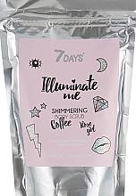 Voňavky, Parfémy, kozmetika Zmäkčujúci cukrový telový scrub - 7 Days Illuminate Me Shimmering Body Scrub