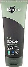 Voňavky, Parfémy, kozmetika Sprchový šampónový gél - Derma Man Body Face & Hair Shower Gel