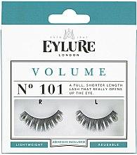 Voňavky, Parfémy, kozmetika Sada falošné riasy №101 s lepidlom - Eylure Volume False Eyelashes No.101