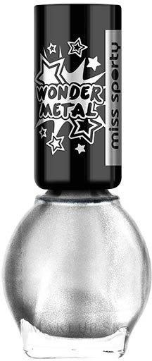 Lak na nechty - Miss Sporty Wonder Metal — Obrázky 010 - Ultra Silver