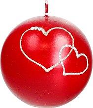 Voňavky, Parfémy, kozmetika Dekoratívna sviečka červená guľa, 10 cm - Artman Forever