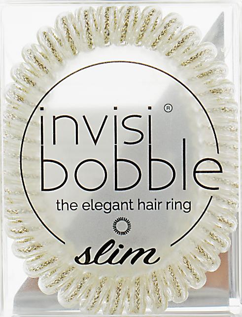 Gumička-náramok na vlasy - Invisibobble Slim Stay Gold — Obrázky N1