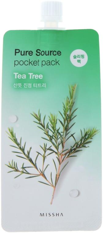 Nočná maska na tvár s extraktom z čajovníka - Missha Pure Source Pocket Pack Tea Tree