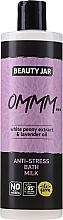 """Voňavky, Parfémy, kozmetika Mlieko a pena do kúpeľa s extraktom z bielej pivónie a levanduľovým olejom """"Antistres"""" - Beauty Jar Anti-Stresse Bath Milk"""