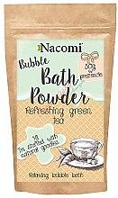 """Voňavky, Parfémy, kozmetika Púder pre kúpeľ """"Osviežujúci zelený čaj"""" - Nacomi Refreshing Green Tea Bath Powder"""