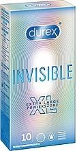 Voňavky, Parfémy, kozmetika Kondómy, 10 ks - Durex Invisible Extra Large
