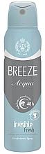 Voňavky, Parfémy, kozmetika Dezodorant v spreji - Breeze Acqua Invisible Fresh Deodorante Spray 48H