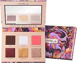 Voňavky, Parfémy, kozmetika Paleta očných tieňov - Nabla Cutie Collection Palette Metropolitan