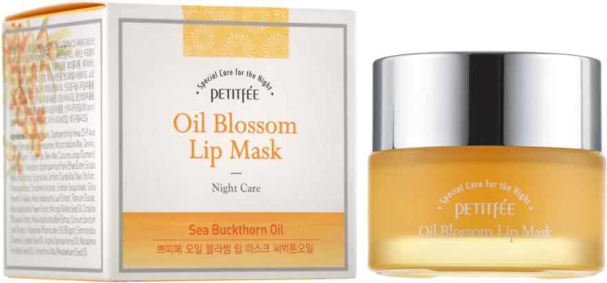 Nočná maska na pery s vitamínom E a rakytníkovým olejom - Petitfee&Koelf Oil Blossom Lip Mask